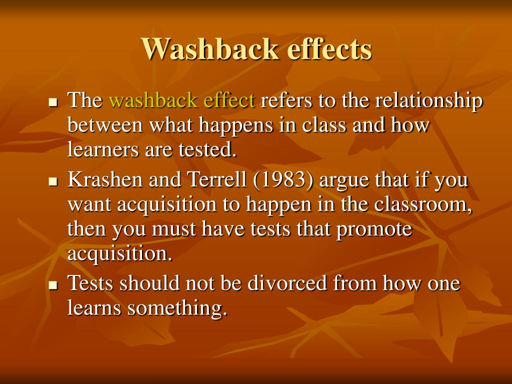 Washback effects