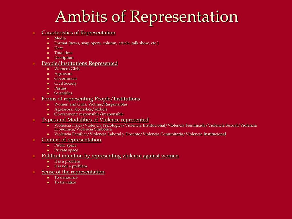 Ambits of Representation