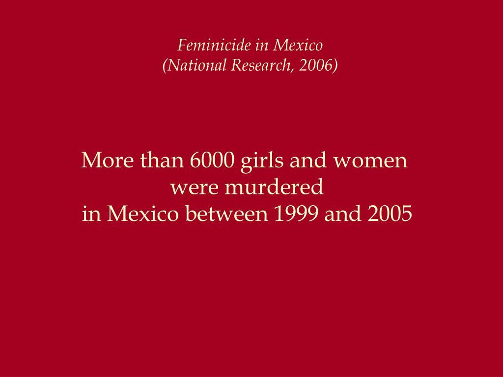 Feminicide in Mexico