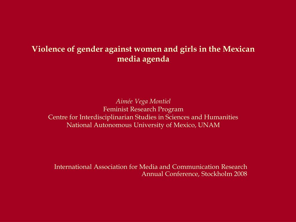 Violence of gender against women and girls in the Mexican media agenda