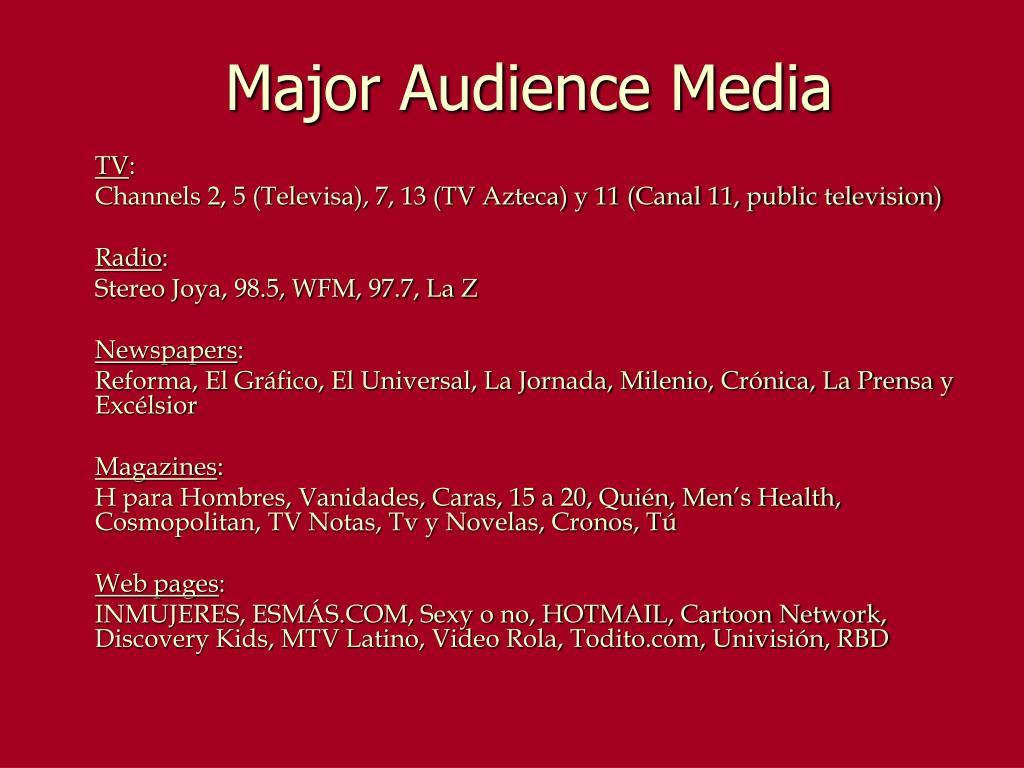 Major Audience Media