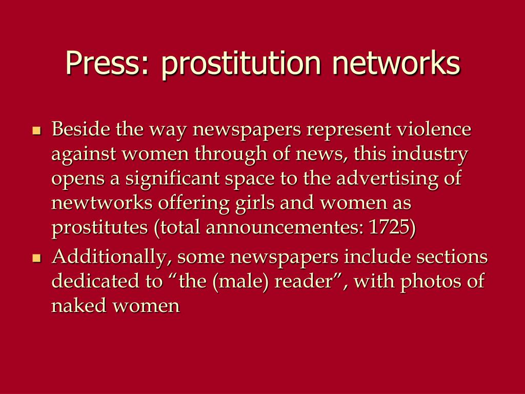 Press: prostitution networks