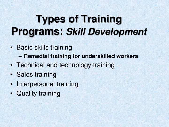 Types of Training Programs: