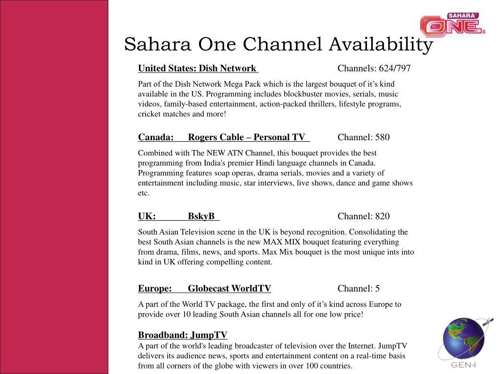 Sahara One Channel Availability