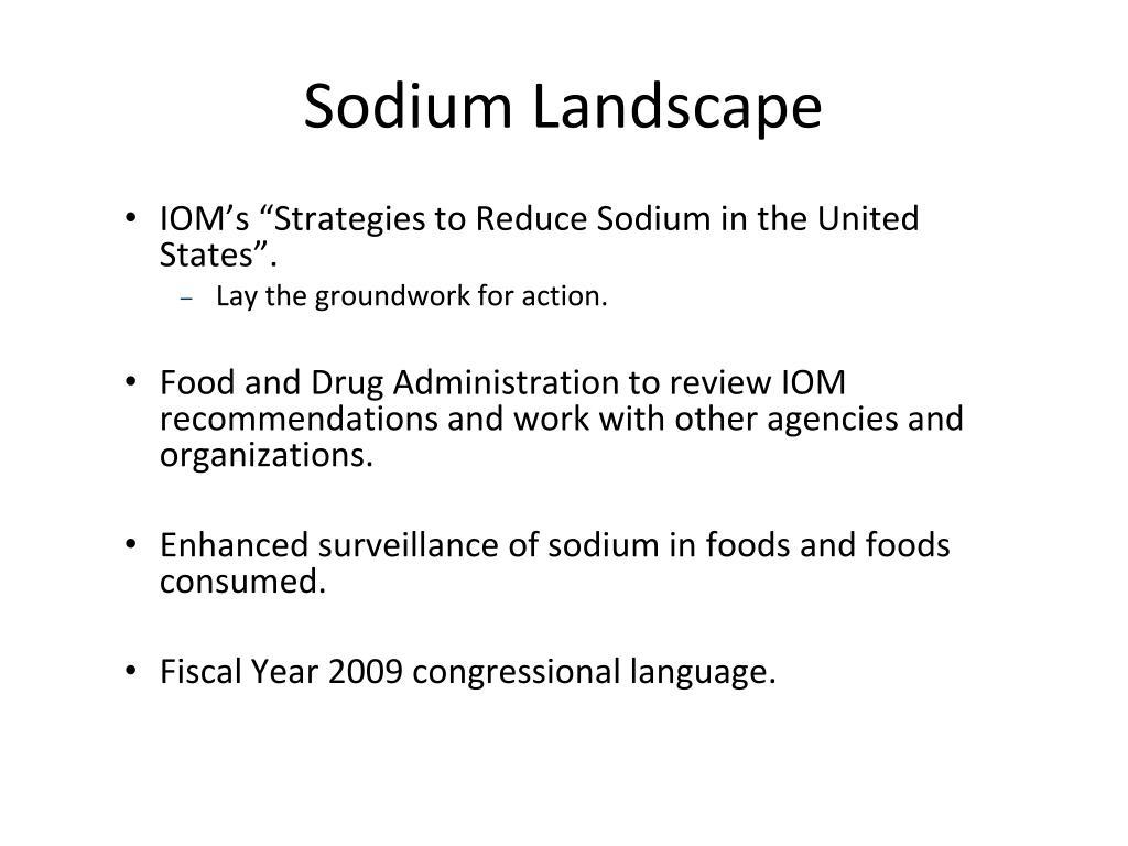 Sodium Landscape