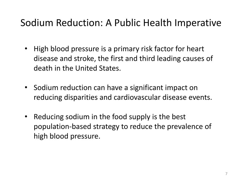 Sodium Reduction: A Public Health Imperative