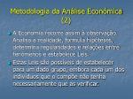 metodologia da an lise econ mica 2