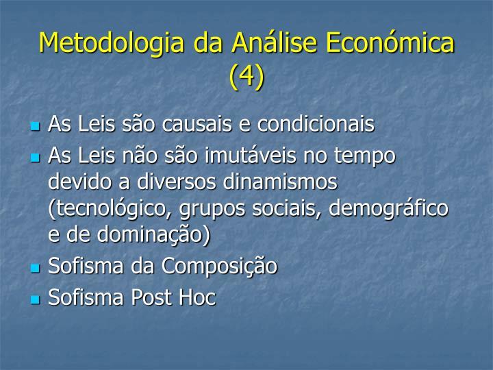 Metodologia da Análise Económica (4)