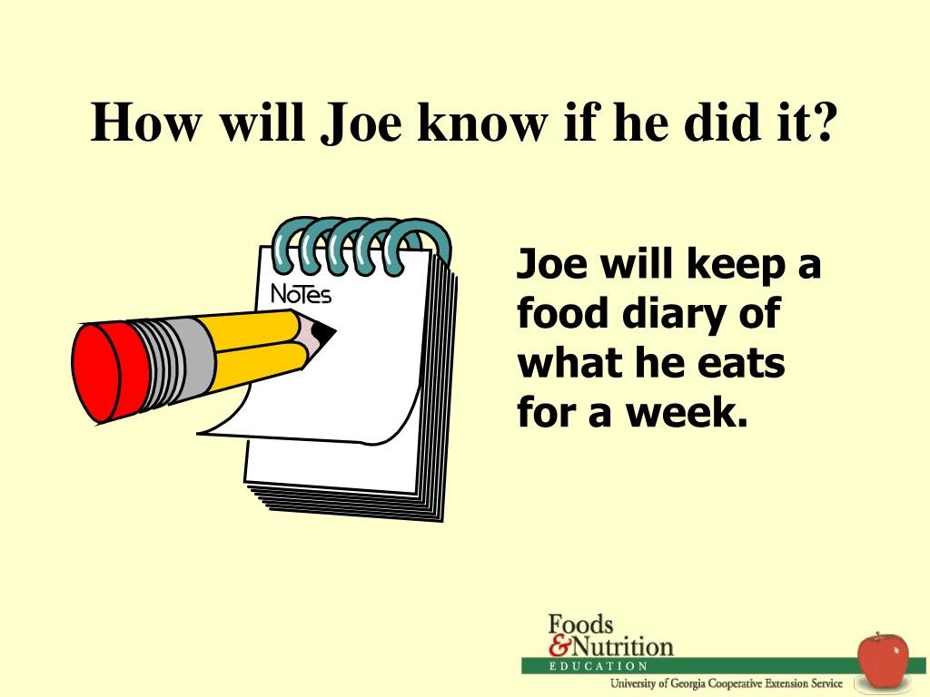 How will Joe know if he did it?