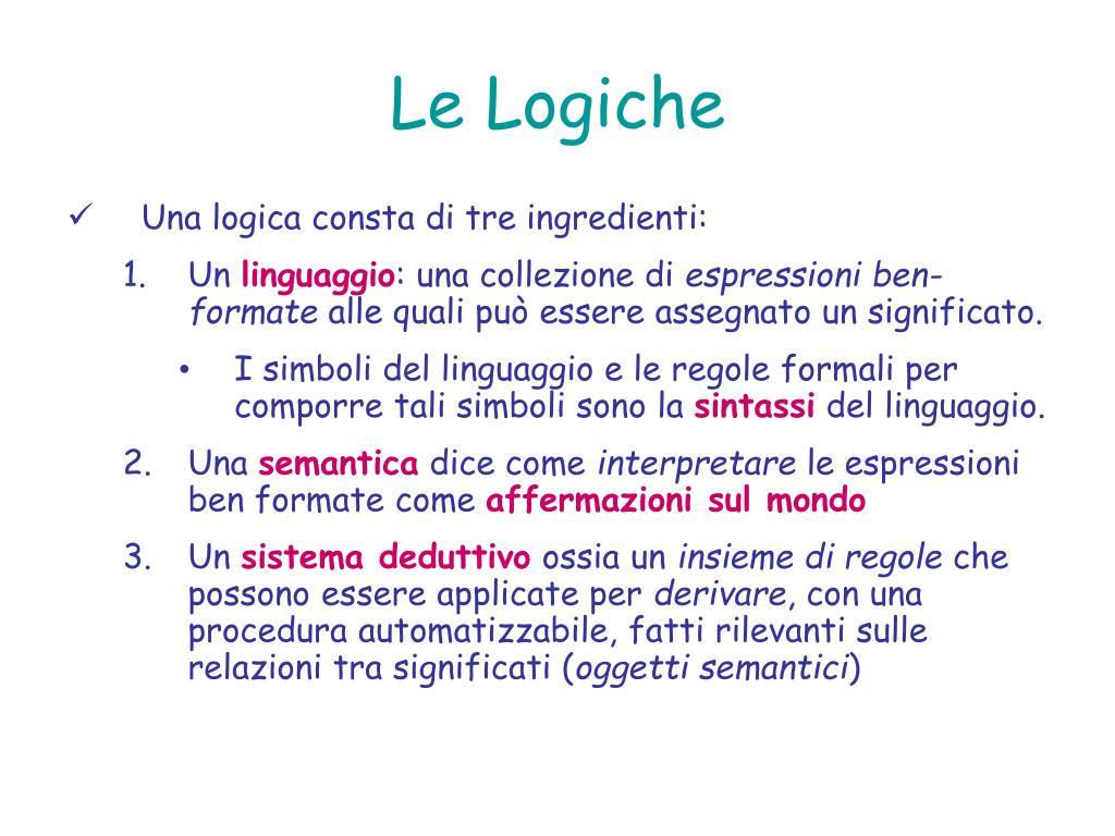 Le Logiche