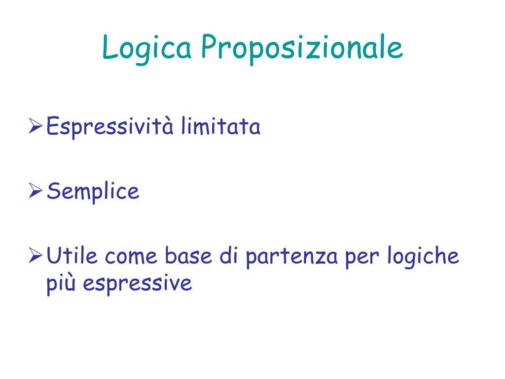 Logica Proposizionale