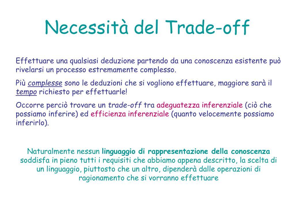 Necessità del Trade-off