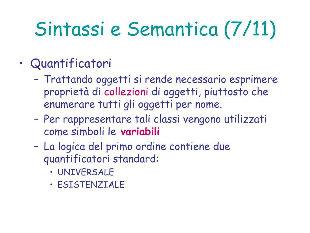 Sintassi e Semantica (7/11)