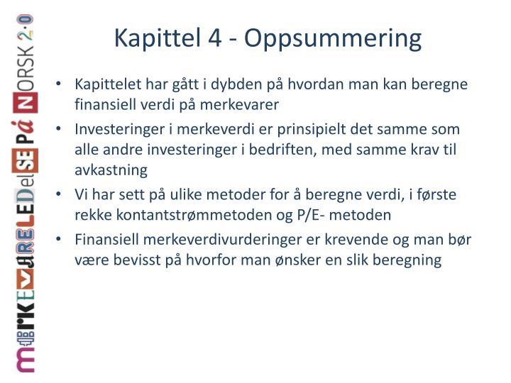 Kapittel 4 - Oppsummering