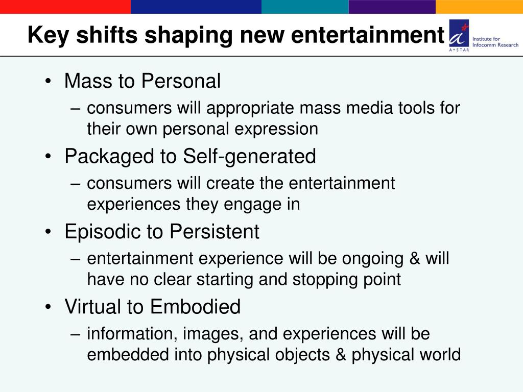 Key shifts shaping new entertainment