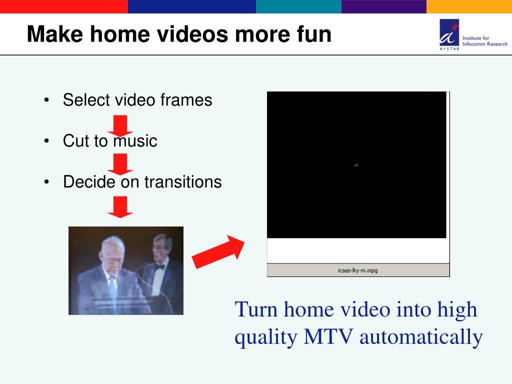Make home videos more fun