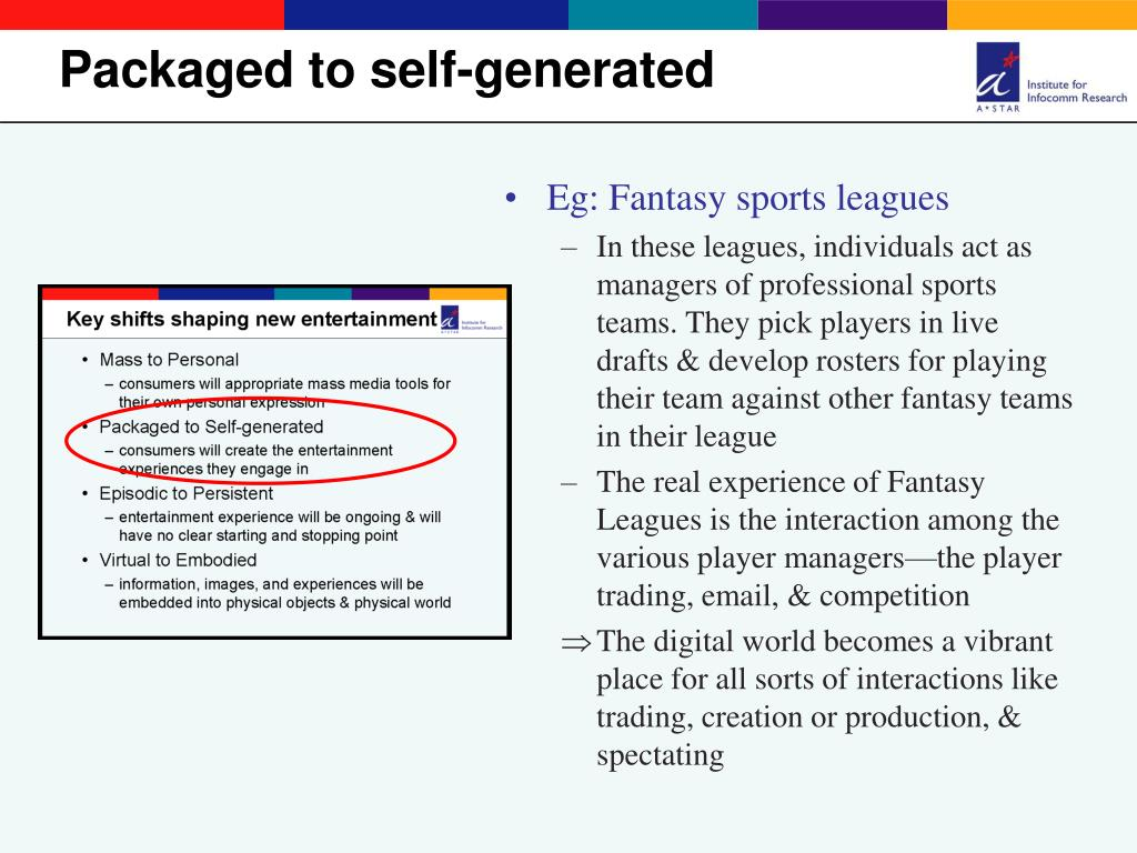 Eg: Fantasy sports leagues