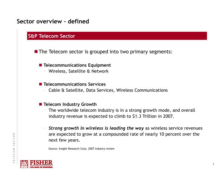 Sector overview defined