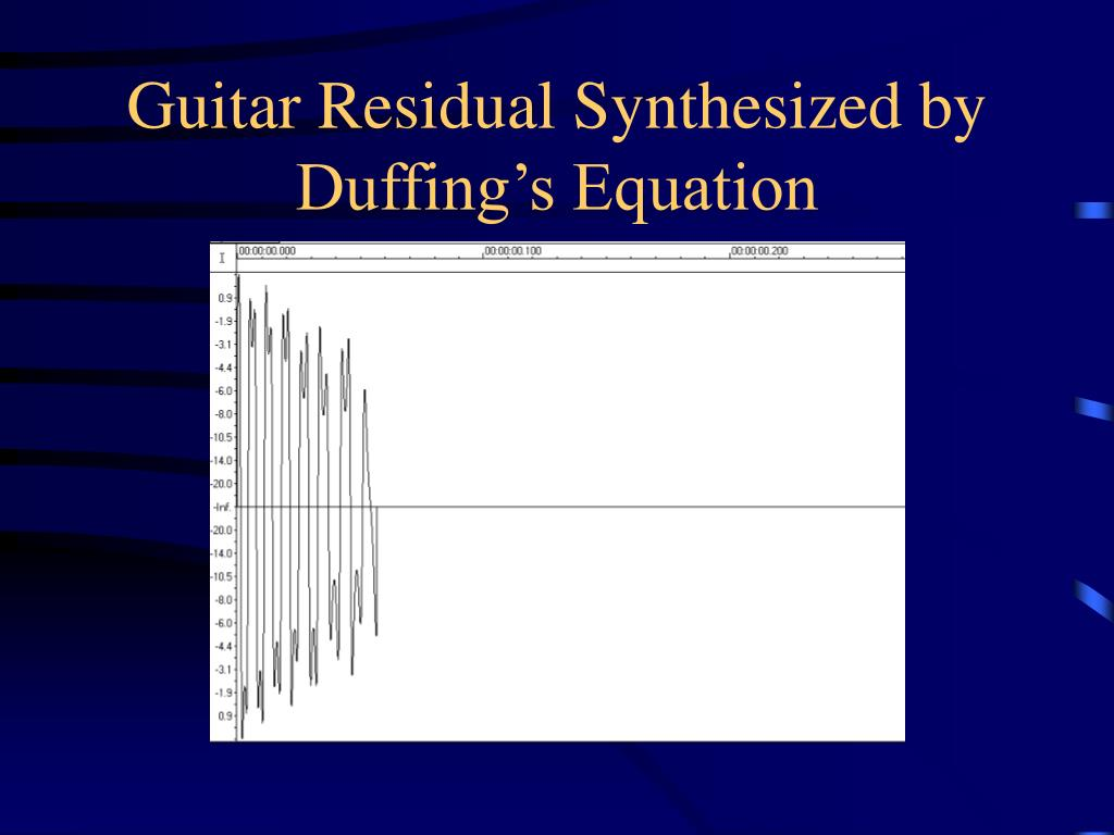 Guitar Residual Synthesized by Duffing's Equation