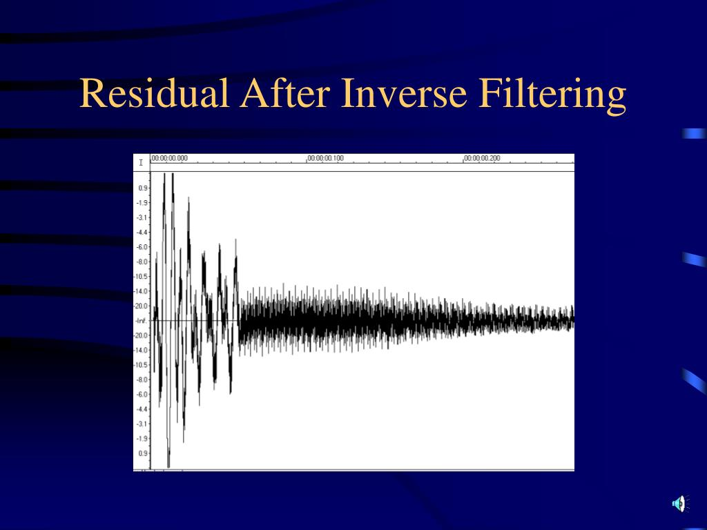 Residual After Inverse Filtering