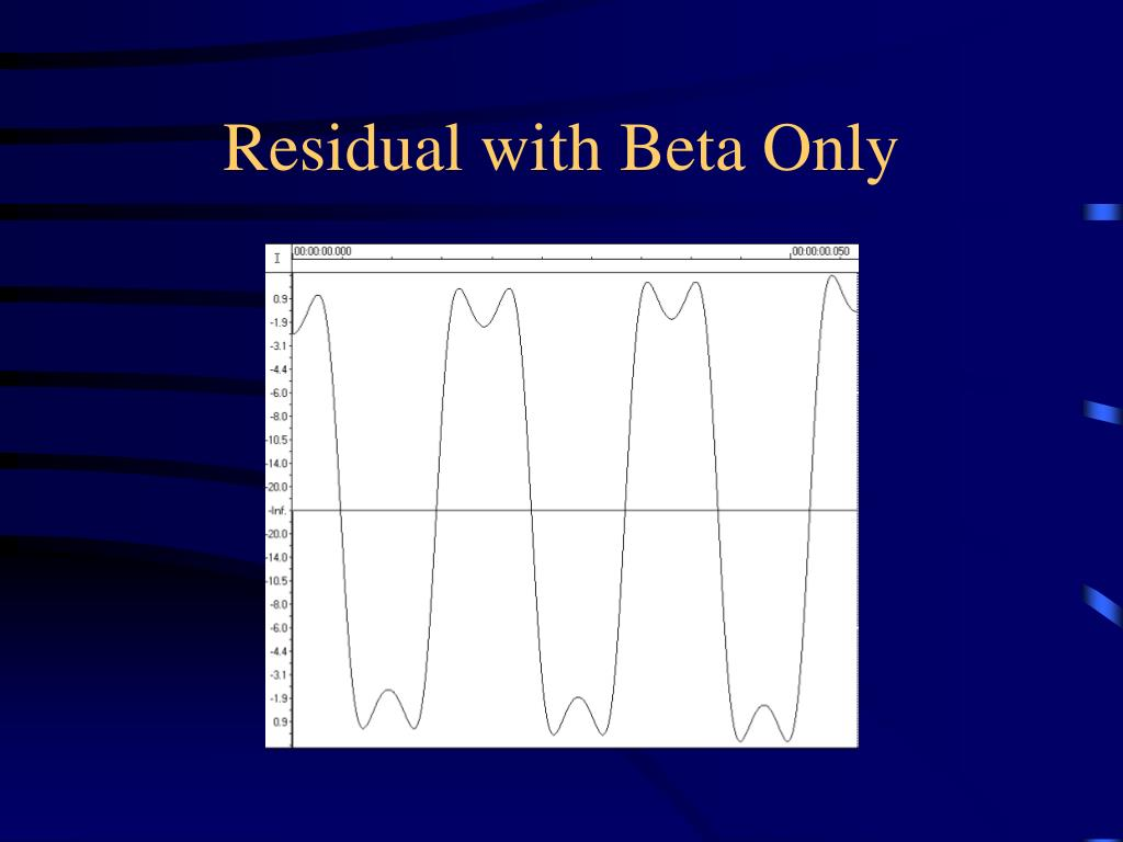 Residual with Beta Only