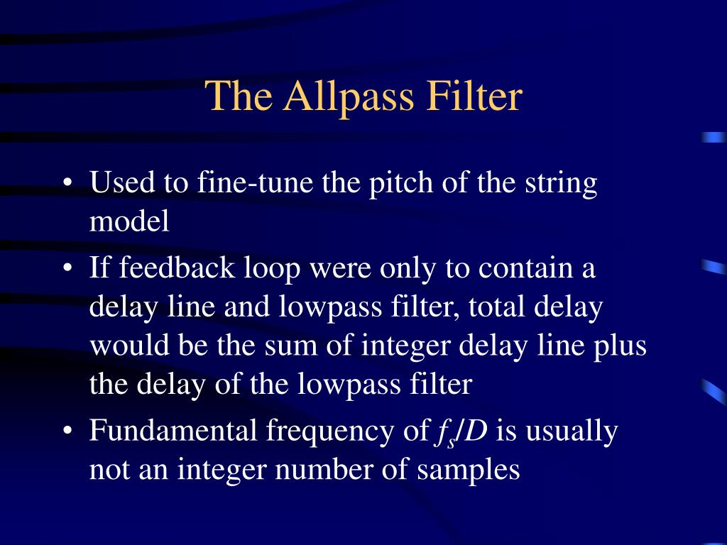 The Allpass Filter