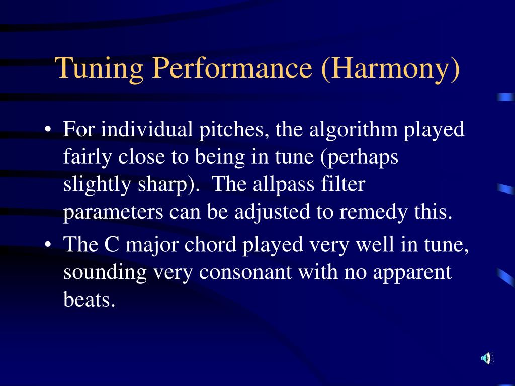 Tuning Performance (Harmony)