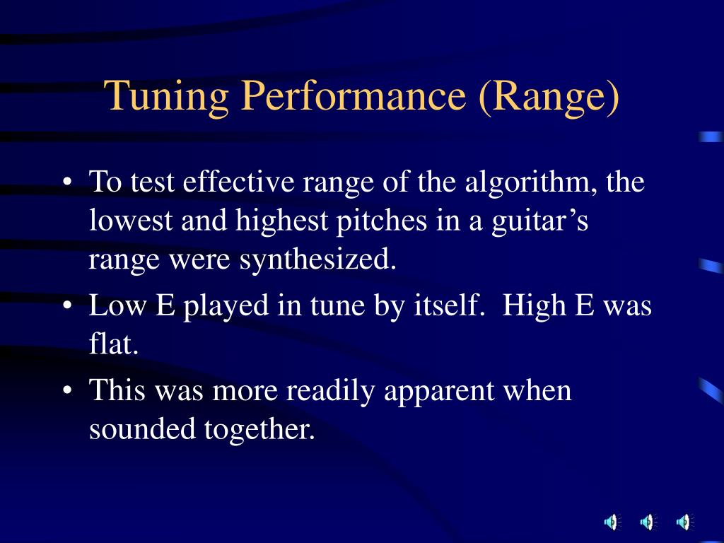 Tuning Performance (Range)