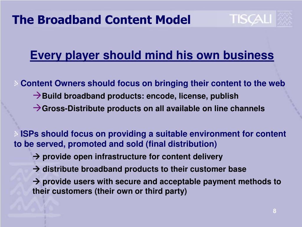 The Broadband Content Model