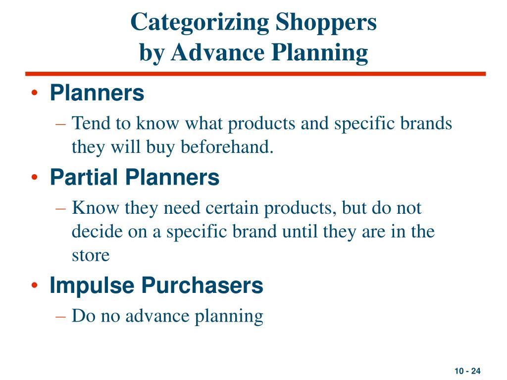 Categorizing Shoppers