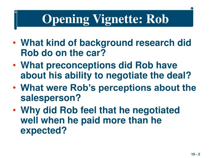 Opening vignette rob