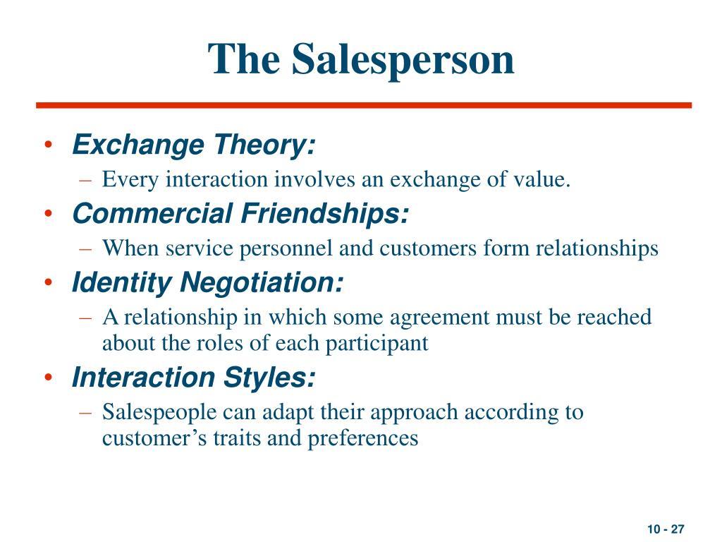 The Salesperson