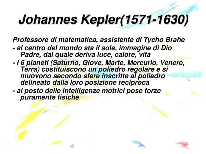 Johannes Kepler(1571-1630)