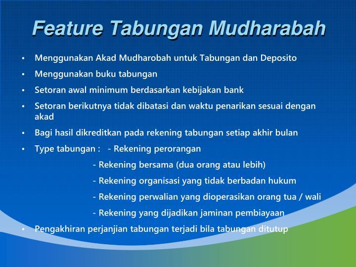 Feature Tabungan