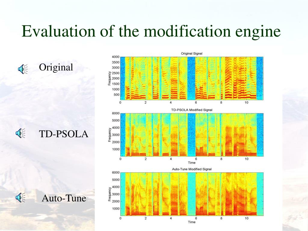 Evaluation of the modification engine