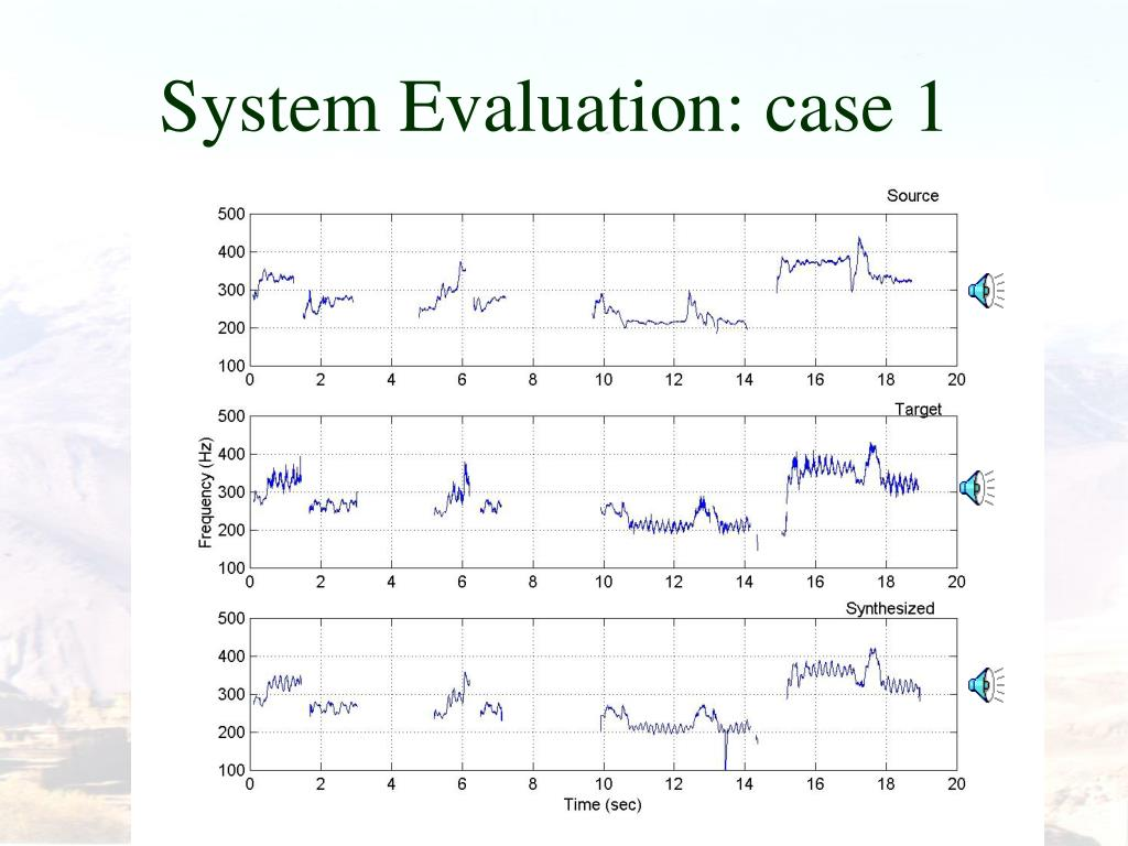 System Evaluation: case 1