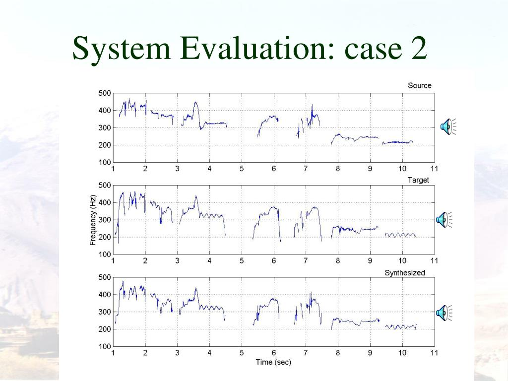 System Evaluation: case 2