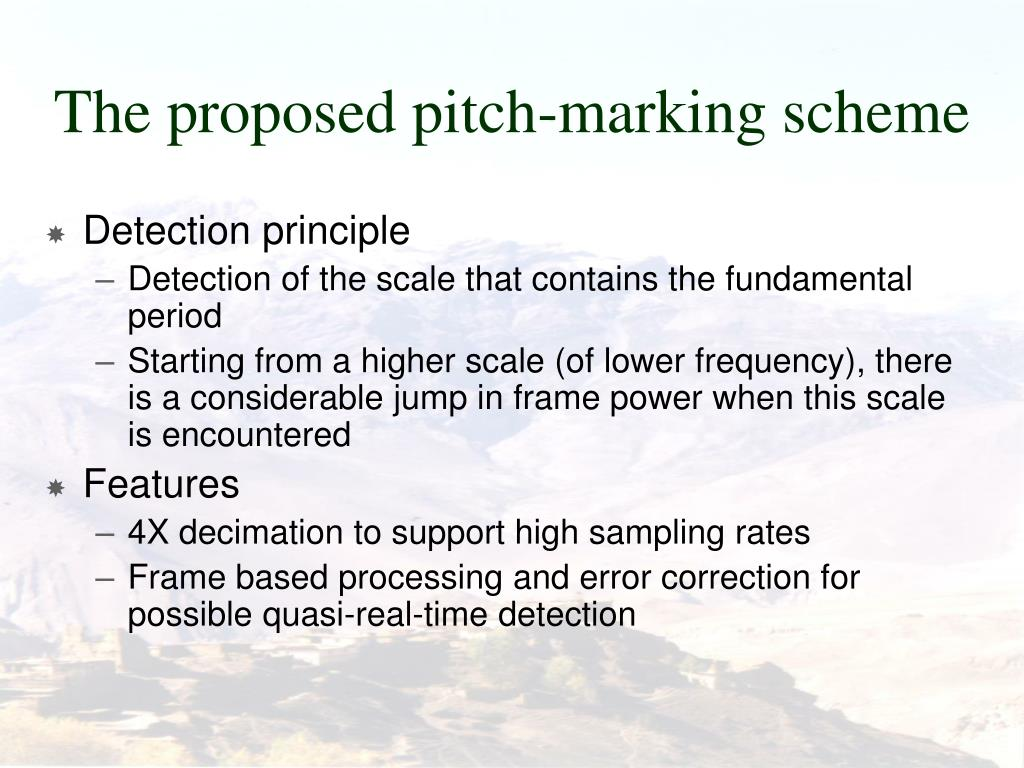 The proposed pitch-marking scheme