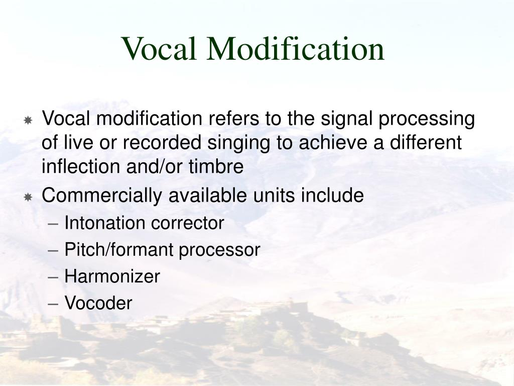 Vocal Modification
