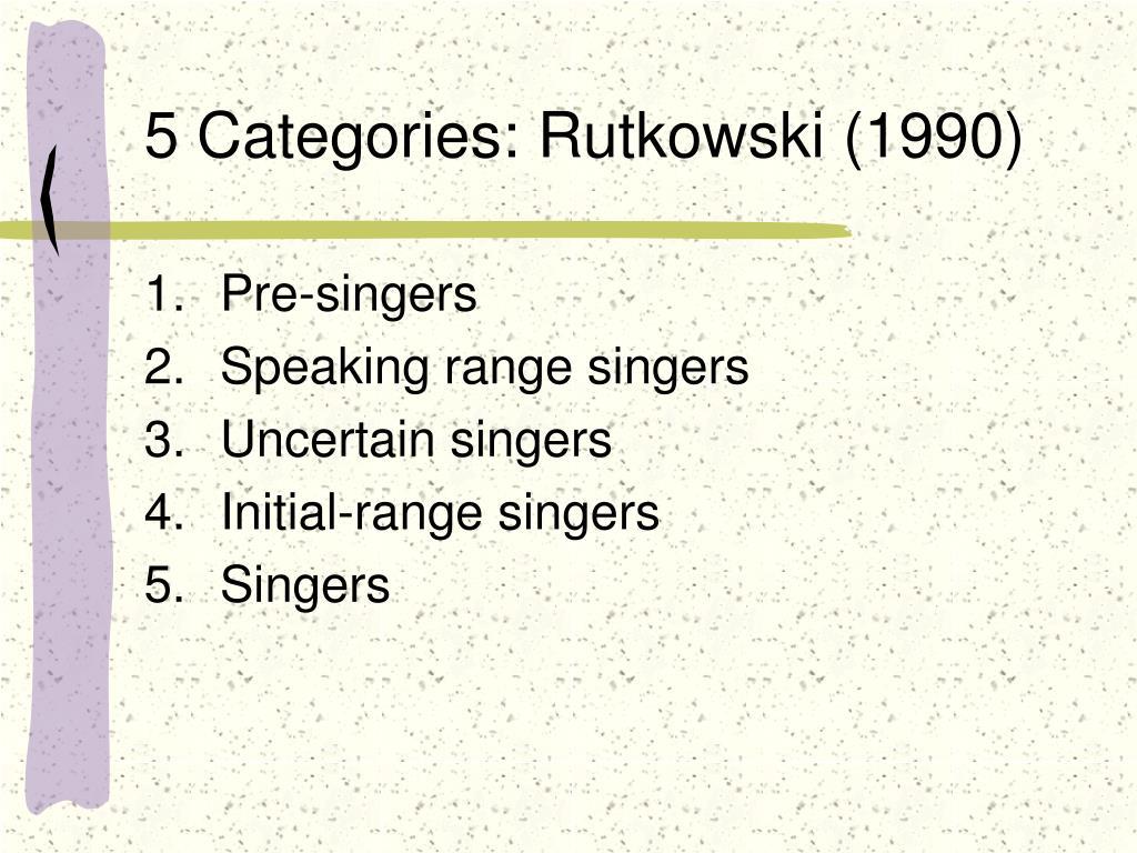 5 Categories: Rutkowski (1990)