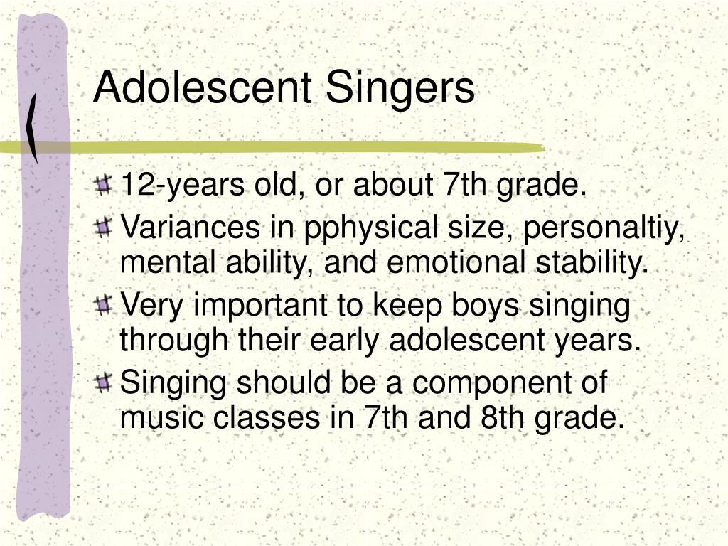 Adolescent Singers