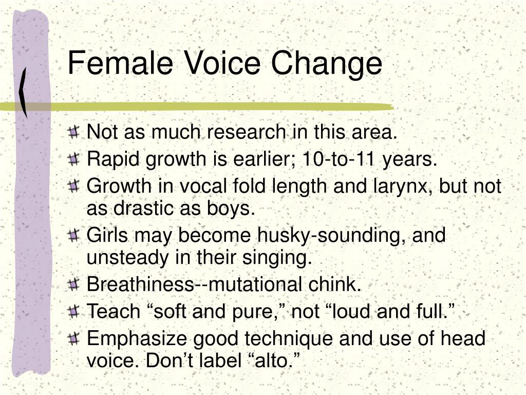 Female Voice Change