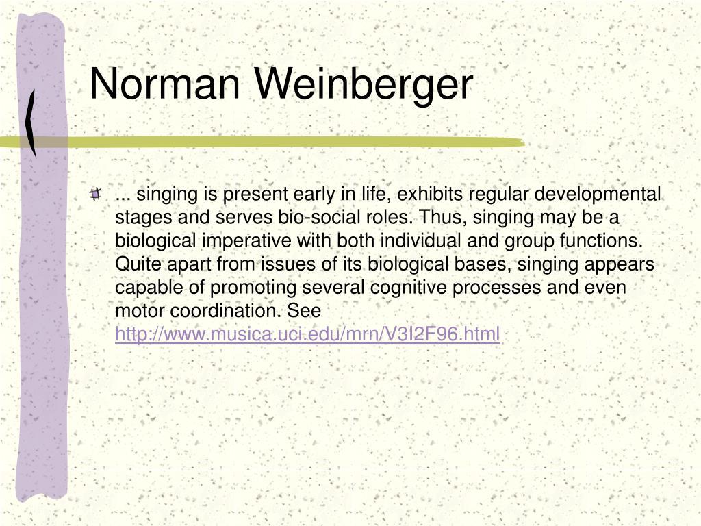 Norman Weinberger