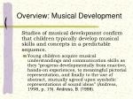overview musical development