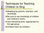 techniques for teaching children to sing