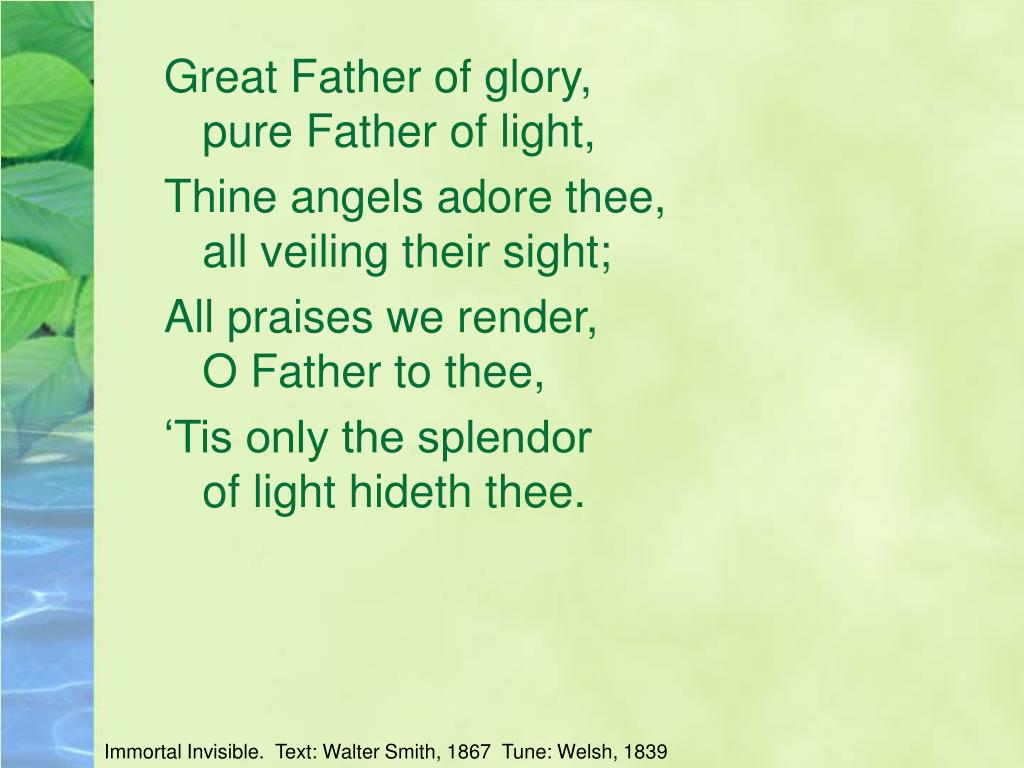 Great Father of glory,