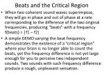 beats and the critical region