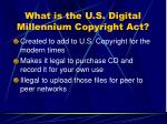 what is the u s digital millennium copyright act