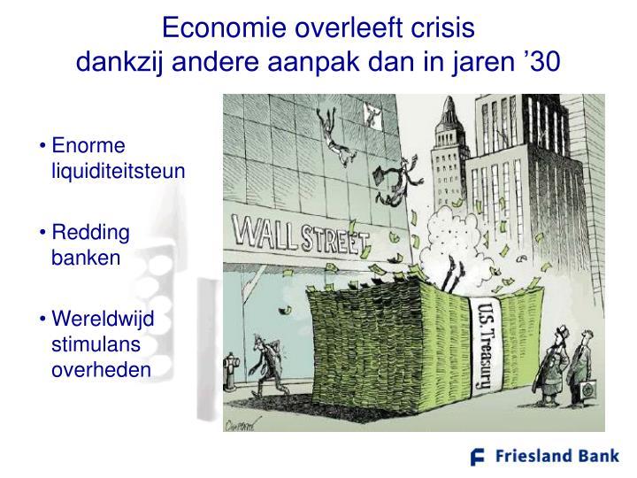Economie overleeft crisis