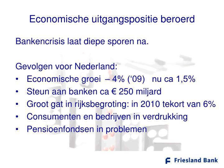 Economische uitgangspositie beroerd
